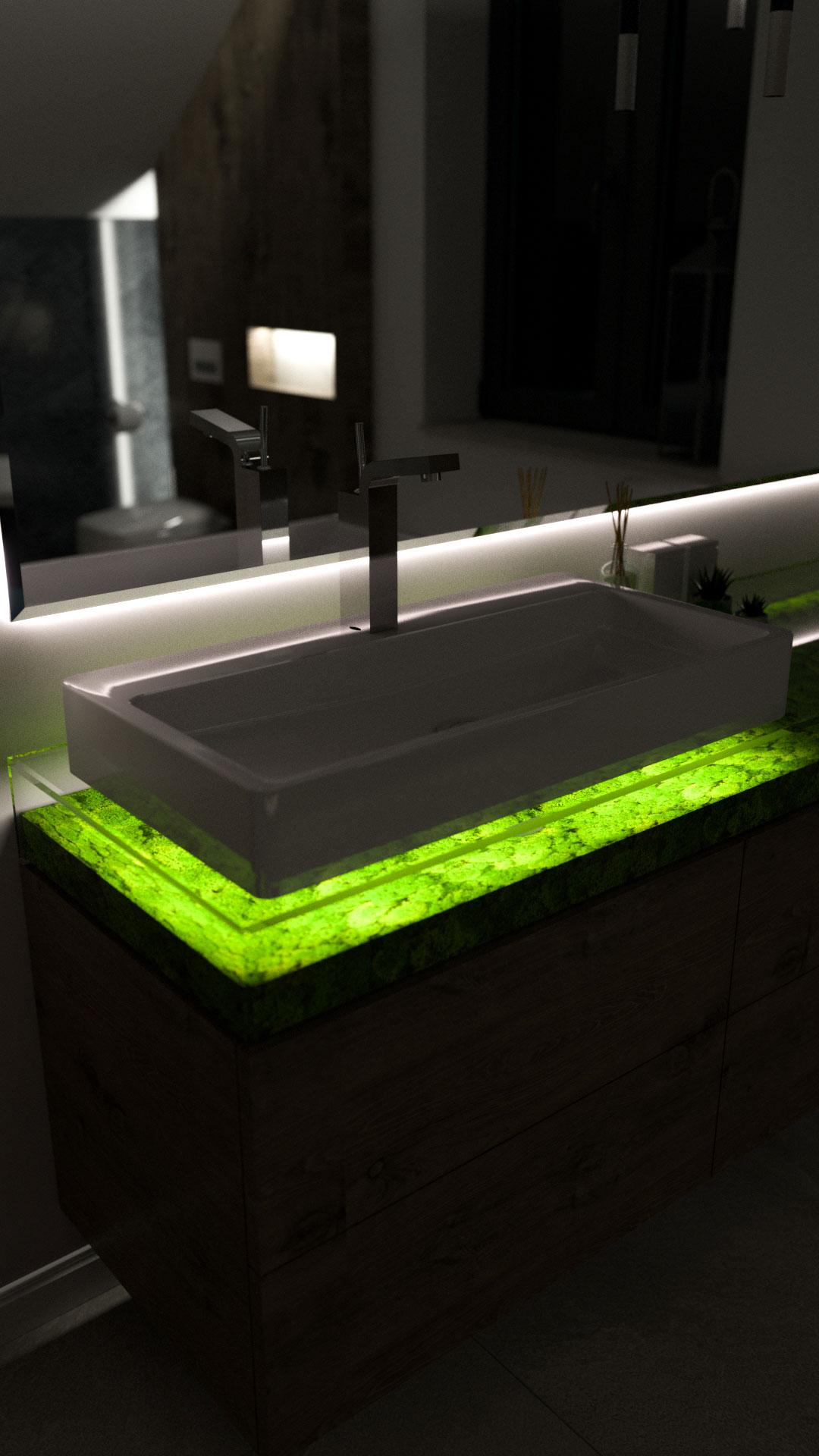 Bathroom Light- Bitopia 3D rendering studio