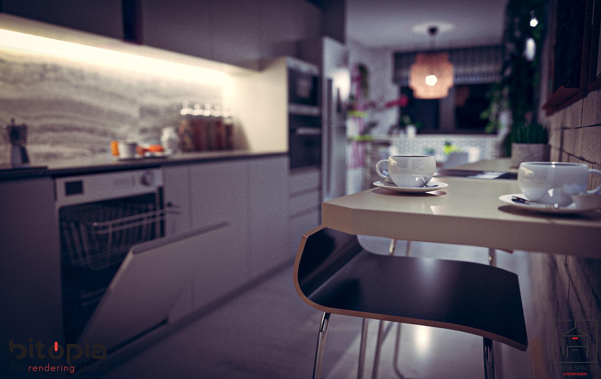 Kitchen project - Bitopia 3D rendering studio