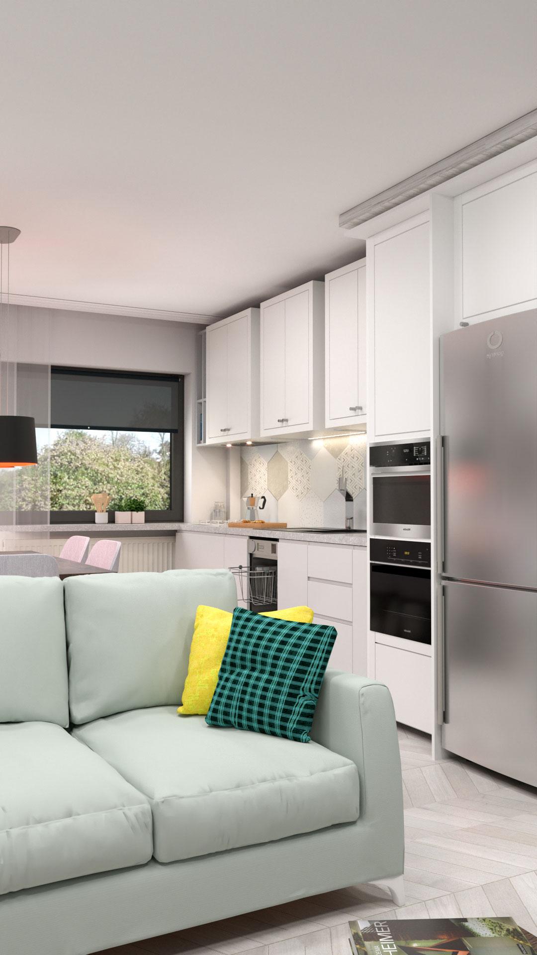 Living Kitchen - Bitopia 3D rendering studio