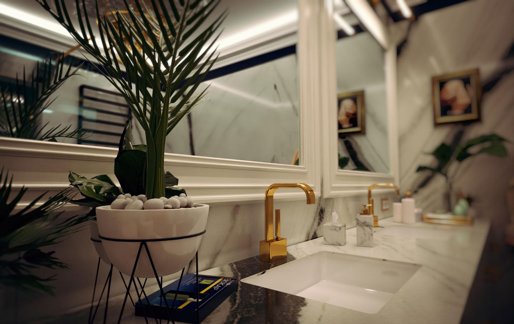 bathroom archviz - Bitopia 3D rendering studio