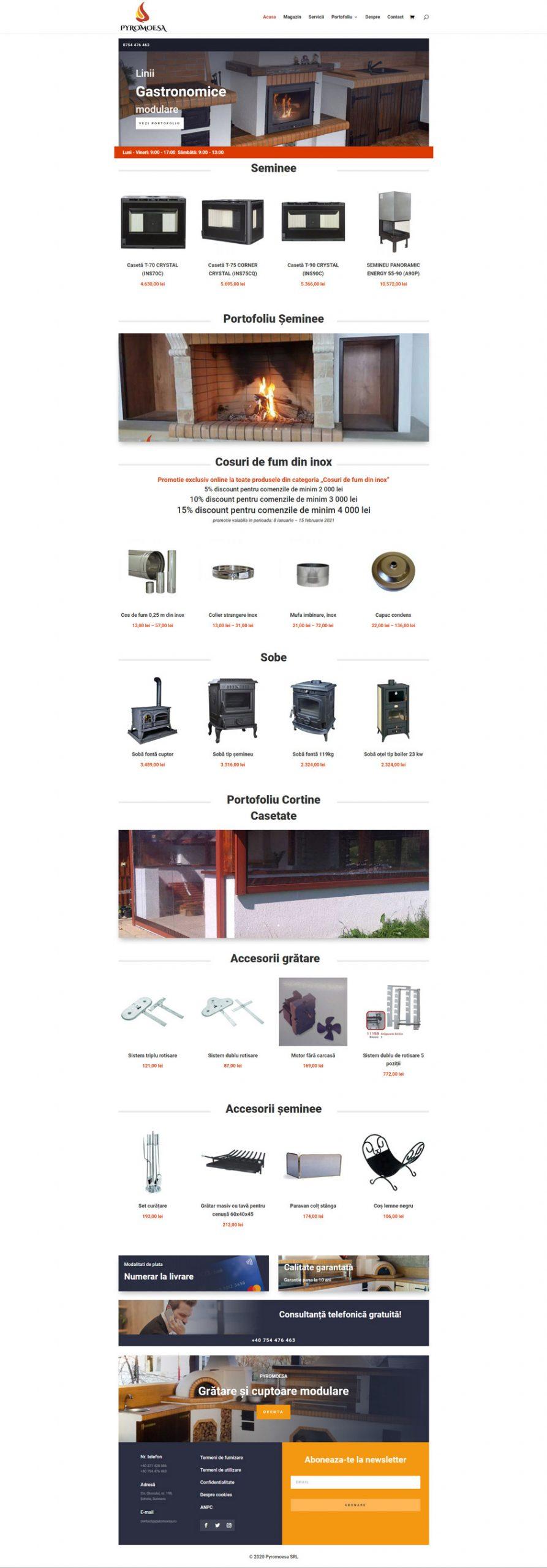 pyromoesa.ro - Portofoliu design web Bitopia Falticeni
