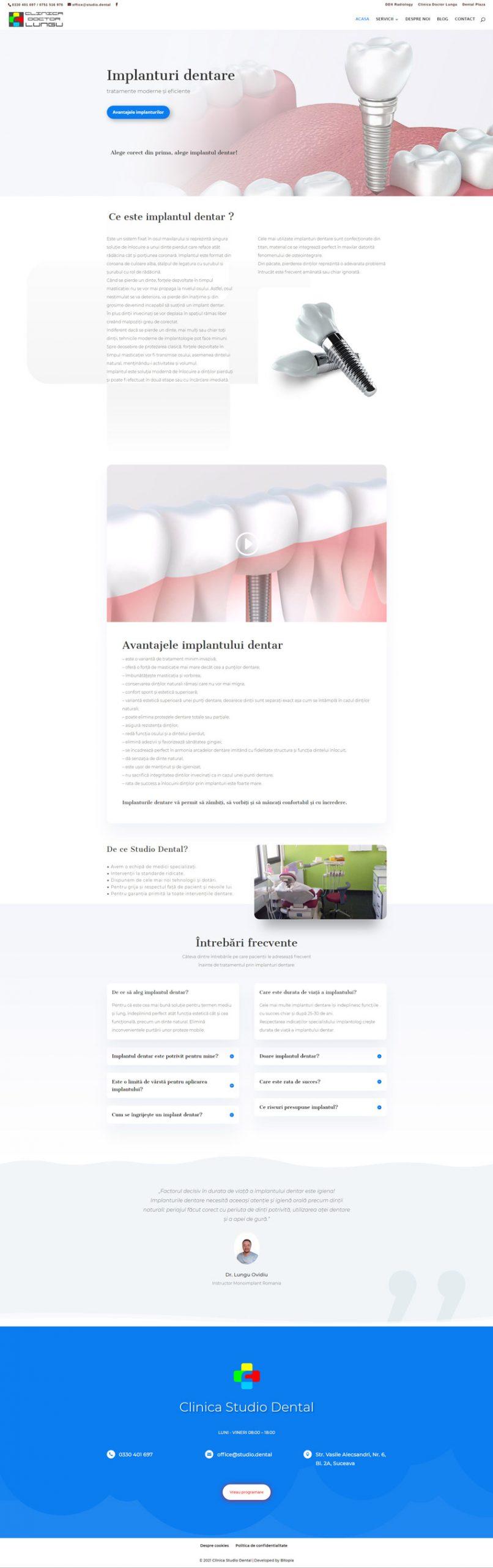 studio.dental - Portofoliu design web Bitopia