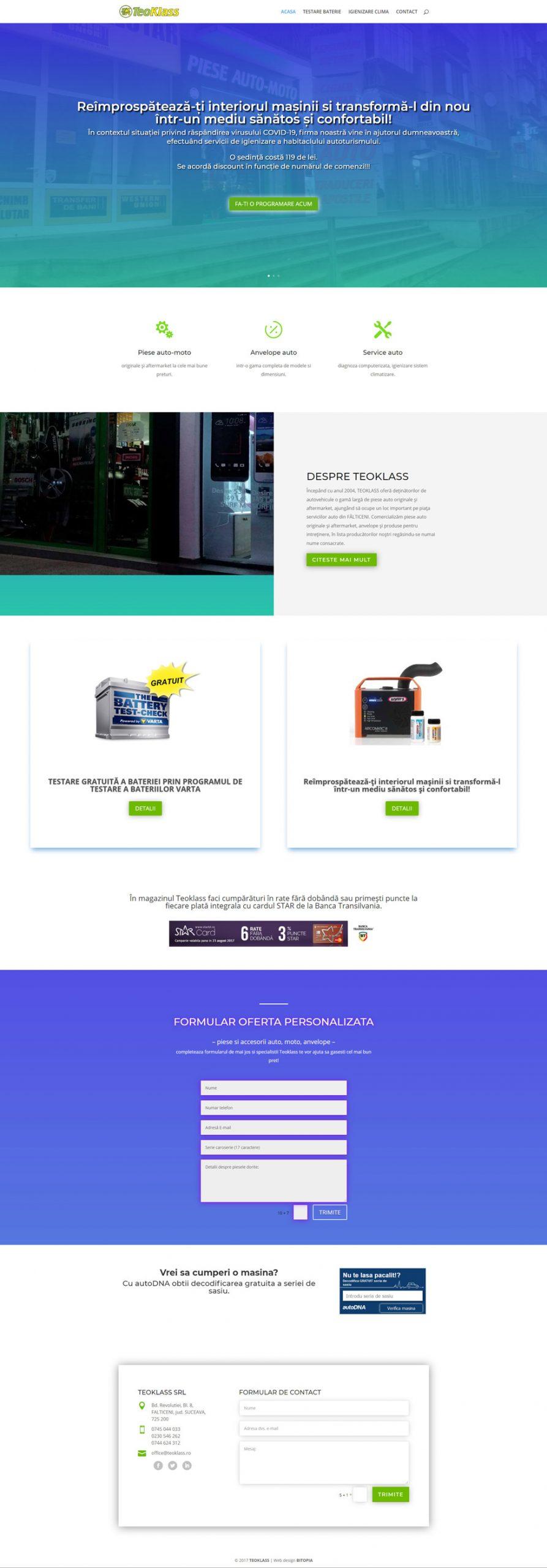 teoklass.ro - Portofoliu design web Bitopia