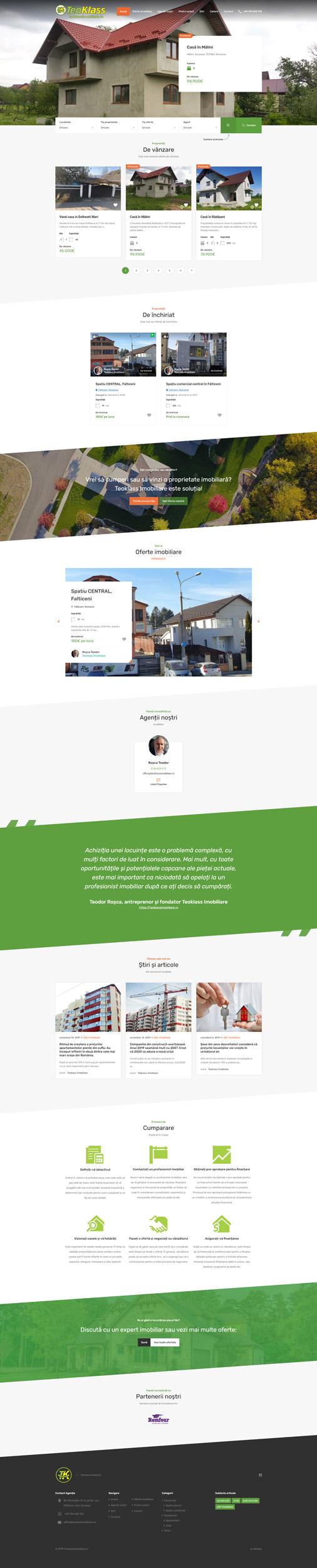 teoklassimobiliare.ro - Portofoliu design web Bitopia Falticeni