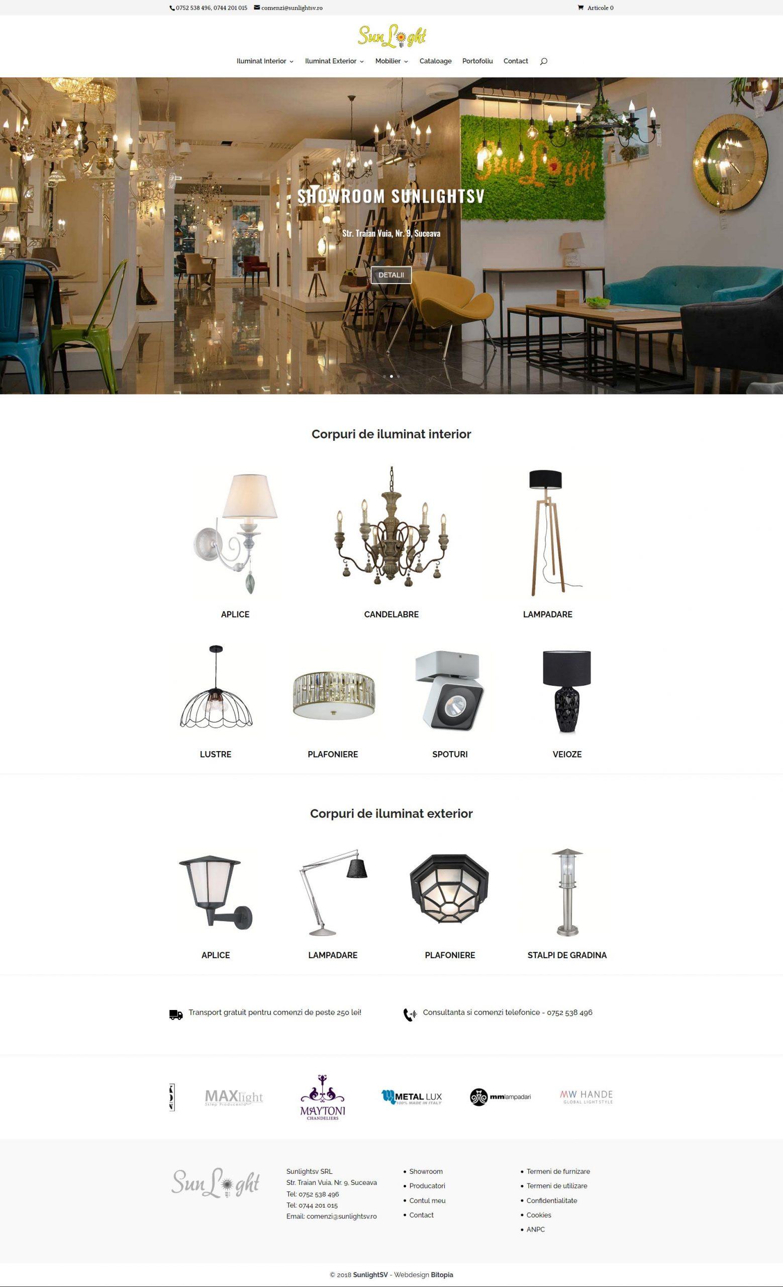 sunlightsv.ro Prtofoliu design web Bitopia