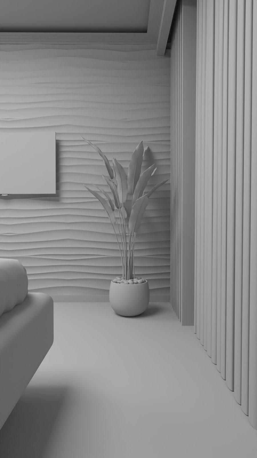 Sketchup bedroom archviz - Bitopia Falticeni 3D rendering studio