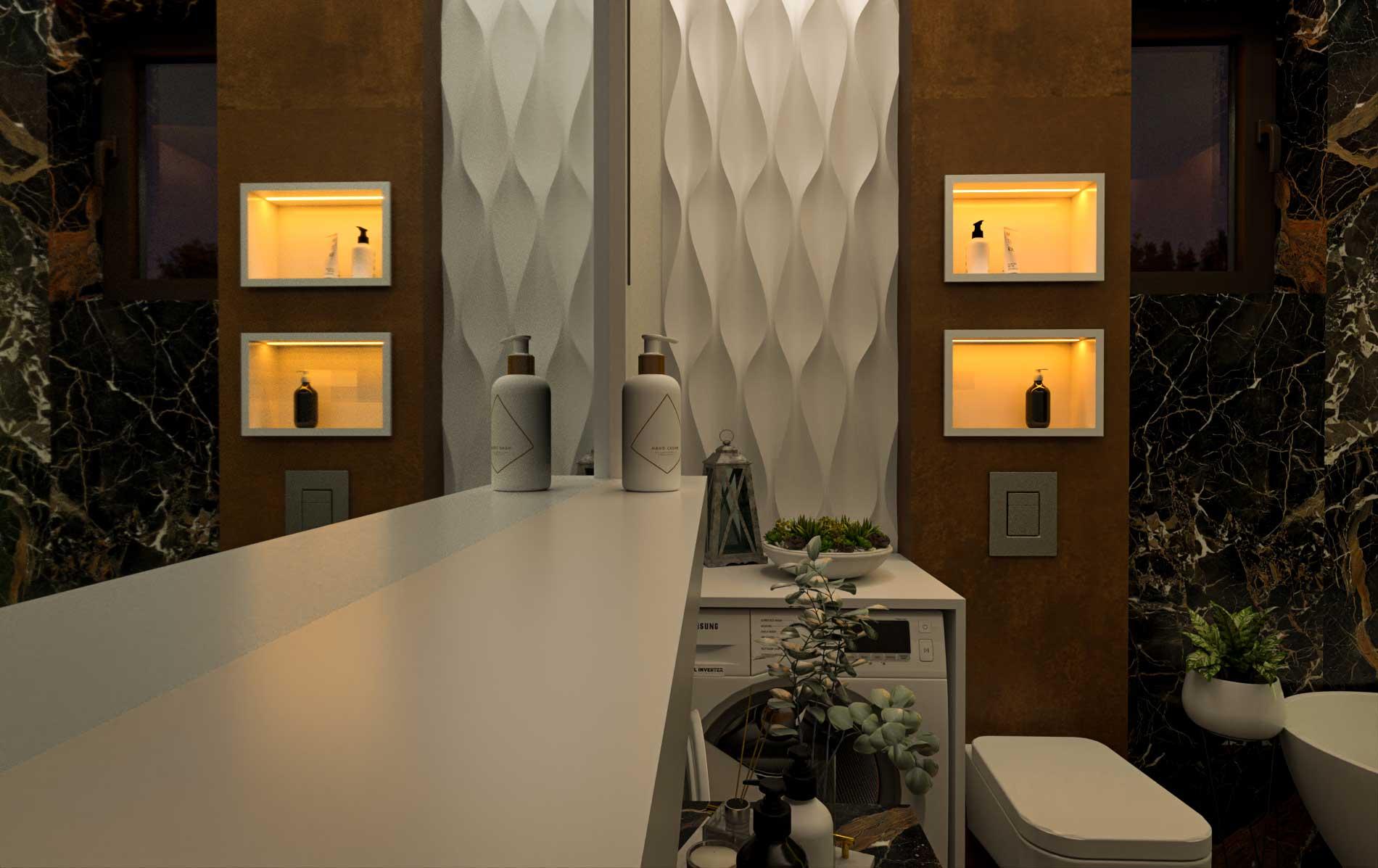 Bathroom archviz- Bitopia 3D render studio - Interior Design