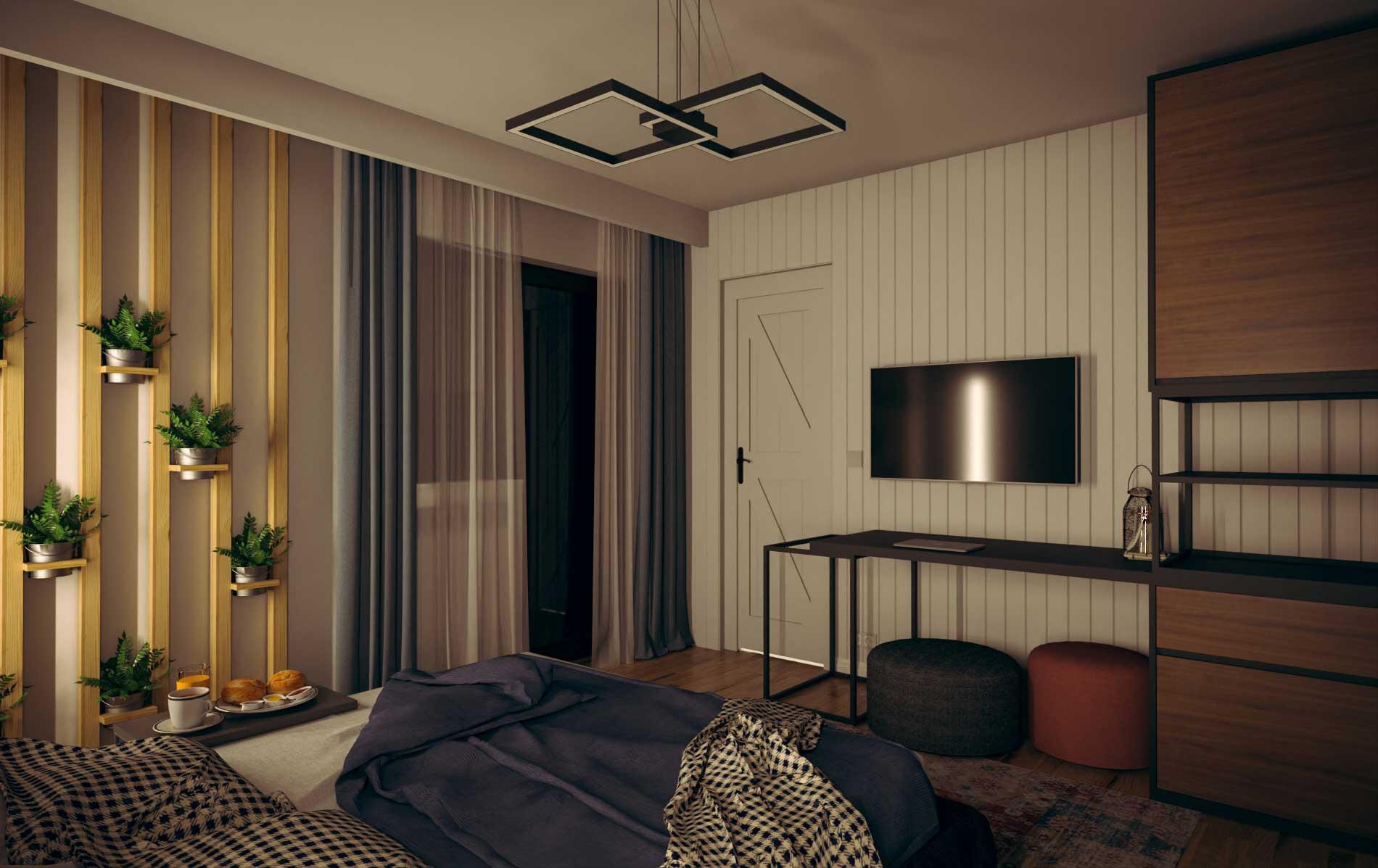 Bedroom visualization - Bitopia studio de randare Falticeni Suceava