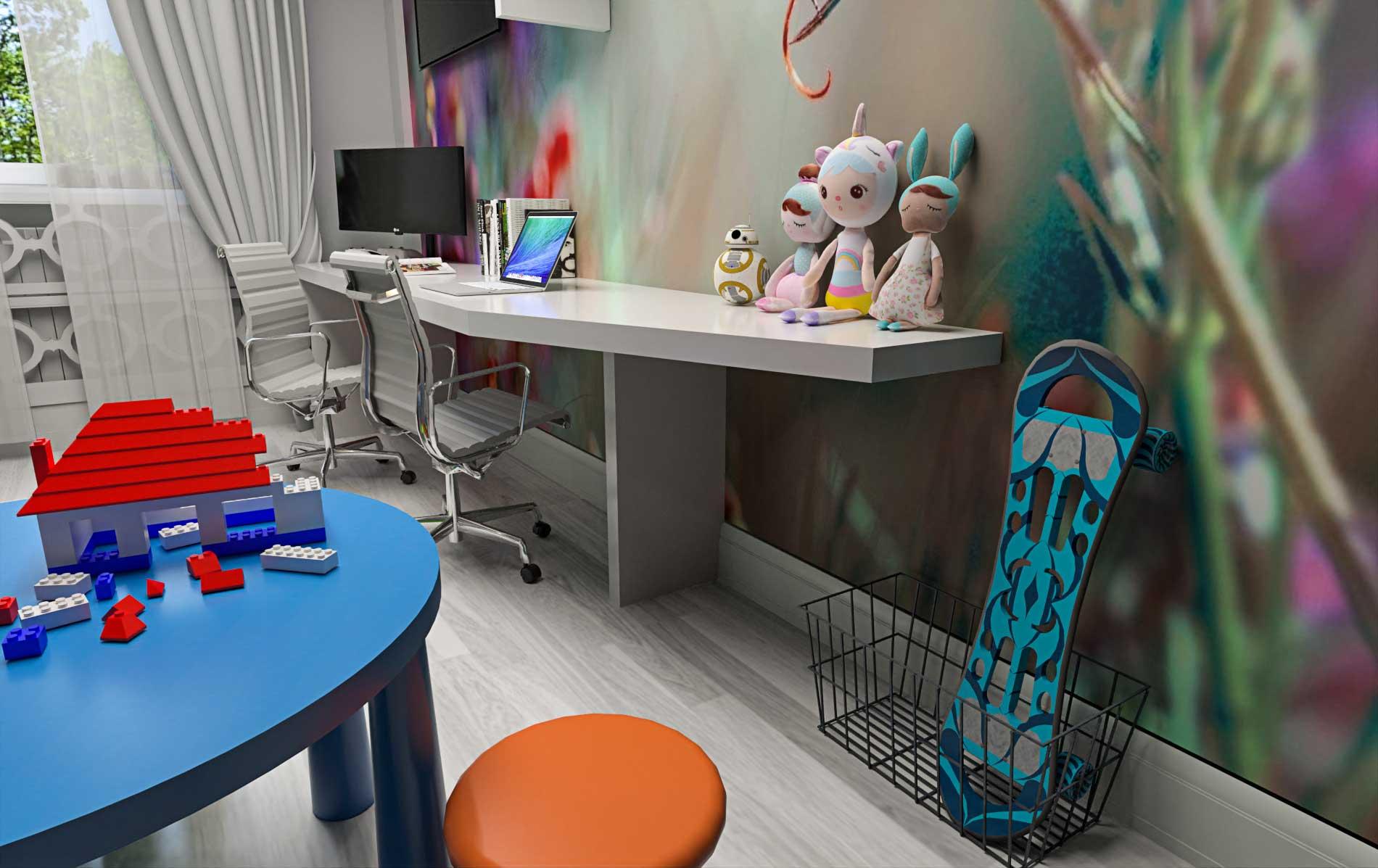 Visualization of a children's room - Bitopia 3D render studio